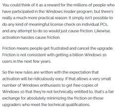 """Yes, some people will get """"free"""" copies of Windows 10. No, it's not a big deal. http://www.zdnet.com/article/with-a-nod-and-a-wink-microsoft-gives-away-windows-10-to-anyone-who-asks/…"""