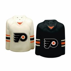 NHL Philadelphia Flyers Gameday Salt and Pepper Shaker by The Memory Company. $16.09. These ceramic shakers are hand-painted and durable enough to handle everyday use. Features team logo on front and S and P on rear as the jersey number.. Save 33% Off!