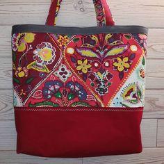 """diy couture ✂️🐈 sur Instagram: Sac cabas fleuri 🌺👜 Patron by @patrons_sacotin """"cabôtin"""" #sewing #bag #saccabas #sac #handmade"""