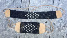 Native Beaded choker & bracelet set done with buckskin