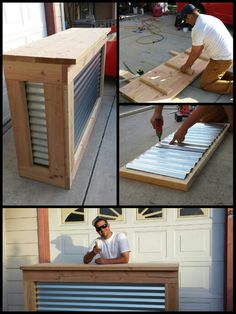 Super Easy DIY Backyard Projects on a Budget - Outdoor Bars Perfect Sunday project and hours later weve got an awesome homemade bar. Bar Patio, Outdoor Patio Bar, Backyard Bar, Outdoor Bars, Porch Bar, Outdoor Kitchen Bars, Outdoor Spaces, Bar Design Awards, Diy Außenbar