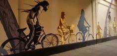 New cycling mural at Dupont and Dundas | I Bike Toronto