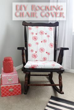 Sew your own cushions for a rocking chair! | www.amusingmj.com
