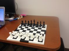 3D printed chess.