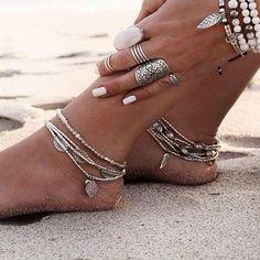 Beautiful Multilayer Boho Anklet Bracelet