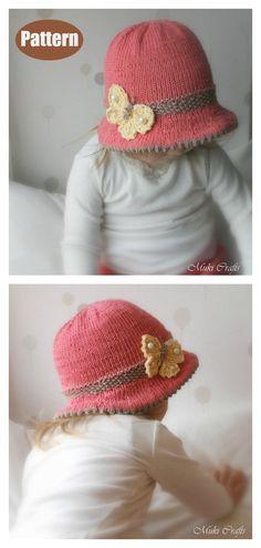 Bucket Style Hat Knitting Pattern hat kids children 5 Bucket Style Hat Free Knitting Pattern and Paid Kids Knitting Patterns, Knitting For Kids, Knitting Designs, Free Knitting, Knitting Projects, Sewing Projects, Hat Patterns, Knitted Hats Kids, Baby Hats Knitting