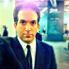 David before an audition in a suit...with a halo #photographicaccident