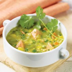 BabyZone: Healthy Recipes for Weight Loss | Salmon and Corn Chowder