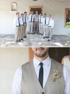 groomsman looks http://www.weddingchicks.com/2013/09/27/cream-and-tan-wedding/
