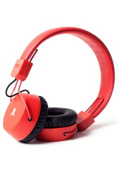 Stylish headphone in red to bang to your beat.