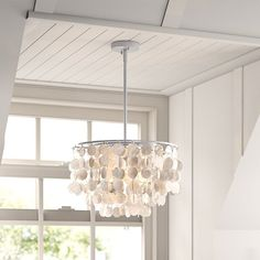 This unique chandelier is made of many shells, it's light and full of decoration, purchase it from Homelava.com and start your decoration. Shell Pendant, Pendant Lamp, Pendant Lighting, Contemporary Pendant Lights, Modern Pendant Light, Unique Chandelier, Fitted Bedrooms, Bedroom Light Fixtures, Made To Measure Curtains