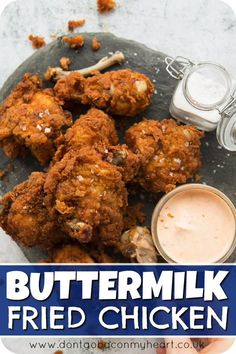 This Buttermilk Fried Chicken recipe is. This Buttermilk Fried Chicken recipe is packed with all the tips you need to make EXTRA crispy fried chicken. Once you give this a go you wont have it any other way! Buttermilk Fried Chicken, Fried Chicken Recipes, Meat Recipes, Indian Food Recipes, Dinner Recipes, Cooking Recipes, Healthy Recipes, Recipe Chicken, Chicken Fried Chicken