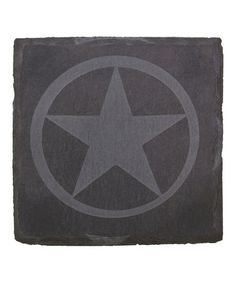 Etched Western Star Slate Coaster - Set of Four by Thirstystone #zulily #zulilyfinds