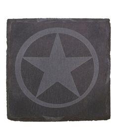 Etched Western Star Slate Coaster - Set of Four by Thirstystone #zulily #zulilyfinds