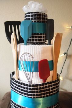 Bridal Shower Towel Cake | Leona Lane