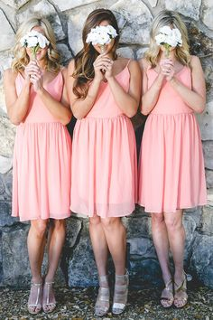 This is one of our favorite bridesmaid dresses from @shoprevelery. This flirty chiffon bridesmaid dress has the cutest back from @shoprevelry