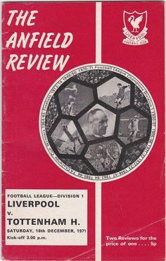 Vintage Football Programme - Liverpool v Tottenham Hotspur, 1971/72 season #soccer #football