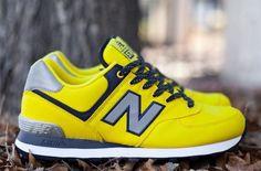 "New Balance 574 ""Windbreaker Pack"" – Yellow (Spring/Summer 2013) #sneakers #kicks"