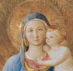 BEATO ANGELICO (attribuita a) - Madonna di Pontassieve (Madonna col Bambino), dettaglio - tempera e oro su tavola - 1435 circa o 1450 circa - Galleria degli Uffizi di Firenze