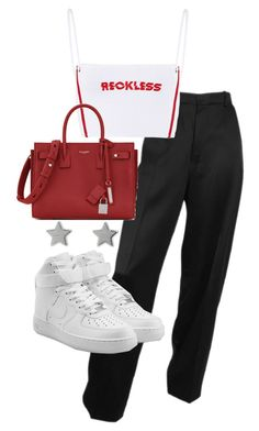 """""""Untitled #22663"""" by florencia95 ❤ liked on Polyvore featuring Yves Saint Laurent, Gucci and NIKE"""