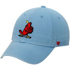 Men s  47 Light Blue St. Louis Cardinals Cooperstown Clean Up Adjustable Hat 224a0538fd8