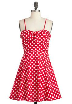 Getting Dot in Here Dress, #ModCloth