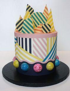 Bakery London, Striped Cake, Chocolate Garnishes, Handmade Chocolates, London Wedding, Celebration Cakes, Beautiful Cakes, Celebrity Weddings, Cake Decorating
