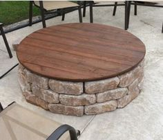Fire Pit Covers are Wood Rustic Fire Pit Covers that are Weatherproof Fire Pit Covers Paver Fire Pit, Wood Fire Pit, Rustic Fire Pits, Fire Pit Area, Diy Fire Pit, Fire Pit Backyard, Fire Pit Table Top, Fire Pit Coffee Table, Gazebo With Fire Pit
