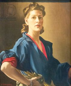Self portrait, c.1944 (oil on canvas), Zinkeisen, Anna Katrina (1901-76) / National Portrait Gallery, London, UK / © Stefano Baldini / Bridgeman Images