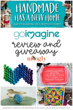 GoImagine is a new site where makers can sell their creations - but unlike other similar sites, 100% percent of their profits go to charity! Get a peek inside and enter to win a $50 gift certificate in this Moogly giveaway! Giveaway open to US only and ends July 12, 2021 at 12:15am CDT. via @moogly