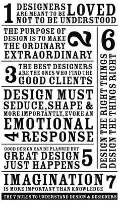 The 7 rules to understand Design (and Designers)