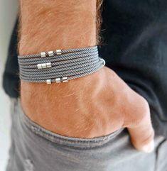 Men's Bracelet - Men's Beads Bracelet - Men's Vegan Bracelet - Men's Jewelry - Men's Gift - Boyfriend Gift - Husband Gift - Gift For Dad - Men's style, accessories, mens fashion trends 2020 Mens Gadgets, Basic Shirts, Bracelets For Men, Bracelet Men, Leather Bracelets, Hand Bracelet, Diamond Bracelets, Bangles, Gift Boyfriend