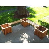 Wood Planter Bench by WoodCountry $324.