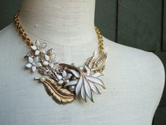 Grace Recycled Revamped Vintage Necklace by magandajewelry on Etsy
