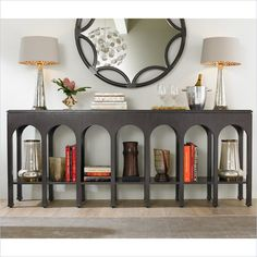 Crestaire - Brooks Console Table in Flint - 436-85-05 - Stanley Furniture - living room - modern furniture