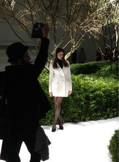 Laetitia Casta en Dior au défilé #Dior