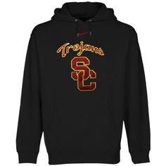 Nike USC Trojans Black Classic Logo Pullover Hoodie Sweatshirt  #UltimateTailgate #Fanatics
