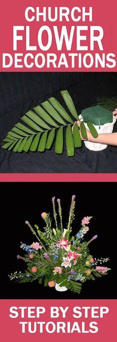 Church Wedding Flowers - Easy Step by Step Flower Tutorials