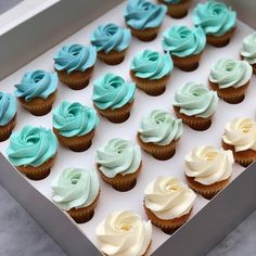 48 of these blue ombré cupcakes for my little boy's school friends tomor . 48 of these blue ombré Baby Shower Cupcakes For Boy, 1st Birthday Cupcakes, Cupcakes For Boys, Baby Shower Decorations For Boys, Baby Boy Birthday, Baby Shower Cakes, 19 Birthday, Birthday Parties, Teal Cupcakes