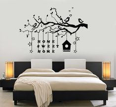 Bedroom Wall Designs, Wall Decals For Bedroom, Wall Art Designs, Wall Painting For Bedroom, Bedroom Ideas, Tree Wall Painting, Simple Wall Paintings, Modern Wall Decals, Creative Wall Decor