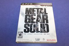 Metal Gear Solid: the Legacy Collection (PS3, Playstation 3)