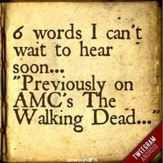 seriously! ugh TWD was my anxiety reliever weird as it sounds, my stress is out of this world! :'(
