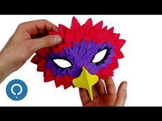 (1) MÁSCARA DE GOMA EVA fácil - Máscara de PÁJARO - YouTube