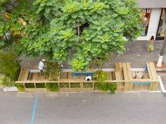 São Paulo Transforms Parklets into Public Policy - LIKE THE BIKE PARKING SPOT BUILT INTO THIS PARKLET