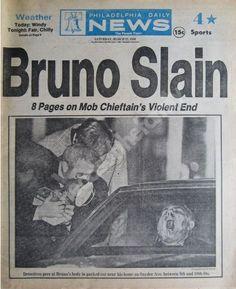 """1980. Murdered: Philadelphia Crime Boss, Angelo """"The Gentle Don"""" Bruno (born Angelo Annaloro)"""
