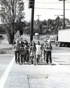 Sand Point Elementary students in crosswalk, 1972 | by Seattle Municipal Archives