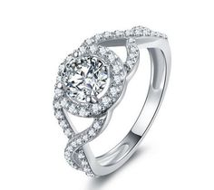 Stone: SONA DIAMOND(Top imitation diamond) Total Carat Weight :1ct Metal: Sterling silver Metal Purity: 92.5% sterling silver 18K white gold plated Save