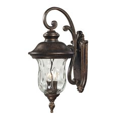 """Lafayette Collection 2-Light 22"""" Regal Bronze Outdoor Wall Lantern with Blown Water Glass 45021/2"""