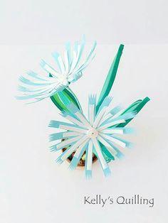 Quilling Flower Pot // Mini flower pot // paper flower // quilling design // quilling flower // Kelly's Quilling // flower // diy flower Facebook & Youtube: Kelly's Quilling