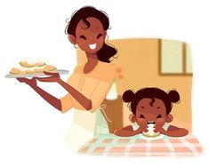 If Disney princesses were moms Tiana struggles to get her to eat anything except beignets. She's so desperate to get her kid to eat better that she's taken to grinding up veggies and hiding them in her beignets. Disney Pixar, Disney Fan Art, Disney And Dreamworks, Disney Characters, Disney And More, Disney Love, Disney Magic, Disney Stuff, Princesa Tiana Disney
